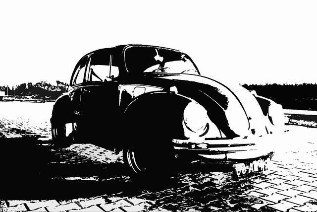 Volkswagen Typ 1 111011 1200 Beetle 1973 (1180817)  B&W processed