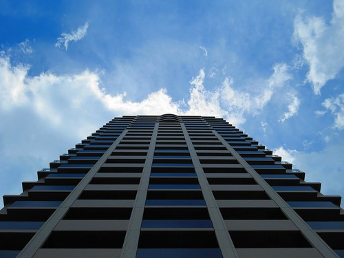 Up and up - Building #6, different view, Yokohama, Japan, July 2014