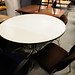 White circular table