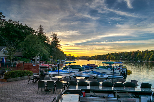 hdr lakeharmony nikon nikond5300 pennsylvania boat boats clouds evening geotagged honeymoon lake reflection reflections restaurant sky sunset tree trees water unitedstates