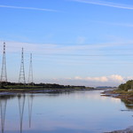 Pylons on the Ribble