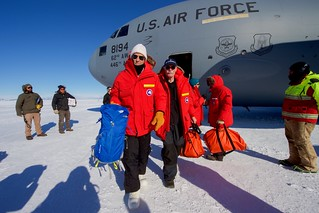 Secretary Kerry Walks Away From a U.S. Air Force C-17 Cargo Plan at the Pegasus Ice Field in Antartica | by U.S. Department of State