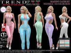TREND - MANDY CATSUIT -  PASTELS