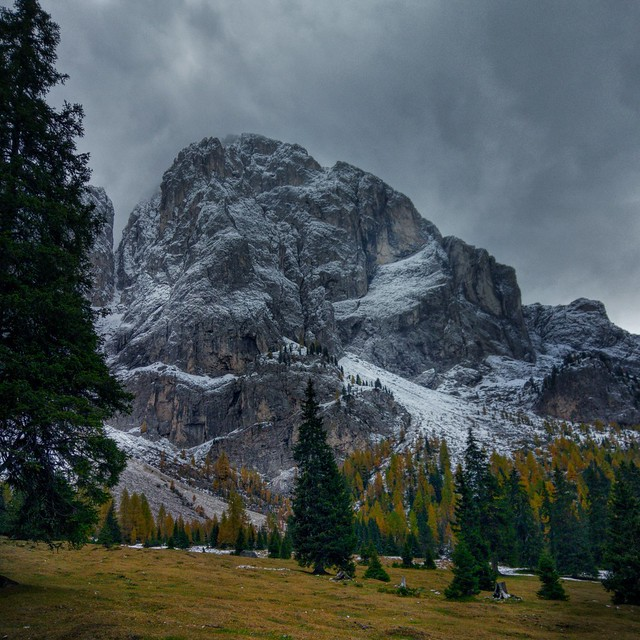 Somewhere in the Dolomites.