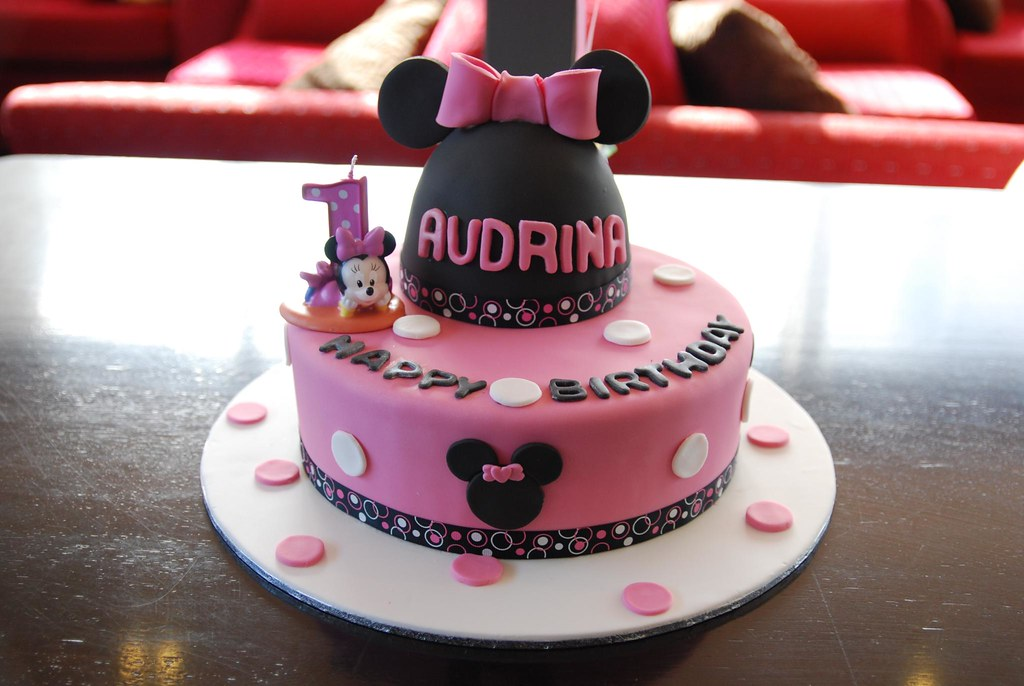 Marvelous Audrinas 1St Birthday Cake Bj Cakes Cakes Cupcakes And C Flickr Funny Birthday Cards Online Sheoxdamsfinfo
