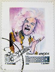 *in memory* anniversary of Falco's birthday Feb. 19th (austrian musician 1957-1998 'Rock me Amadeus'; Hans Hölzel) great stamp austria 55c poste-timbres Autriche sellos Austria selos Briefmarken Österreich porto franco francobolli postzegel selo