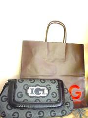 G by GUESS PURSE AVELINE WRISTLET CLUTCH LOGO HAND BAG