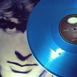 Platinum. Mike Oldfield. Blue vinyl.