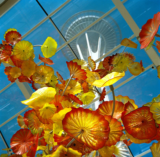 space needle from Chihuly Garden and Glass | by adamnsinger