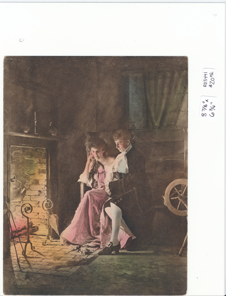 RD3441 James Arthur 1904 - Man and Woman in Front of Fire - James Arthur 1904