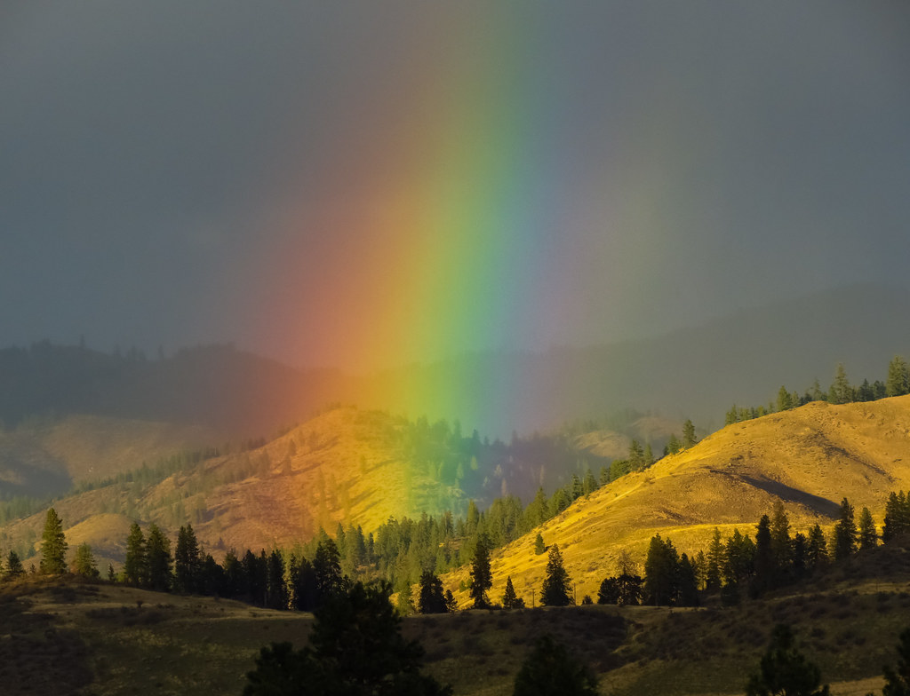 About >> Rainbows 526 | Rainbow, across the sanpoil on Oct 8th ...