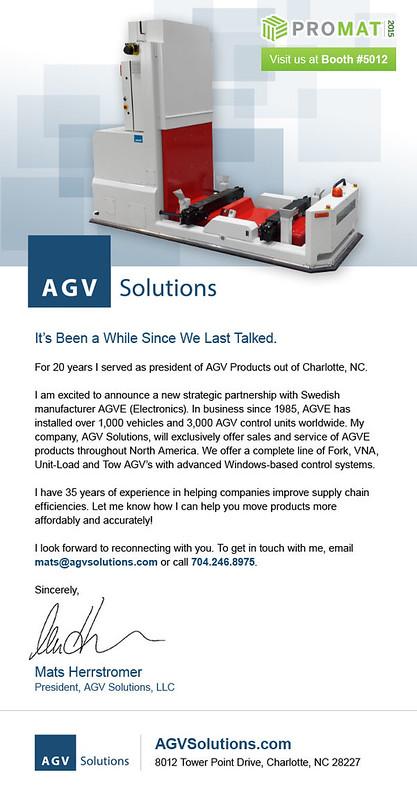 AGV Solutions Eblast
