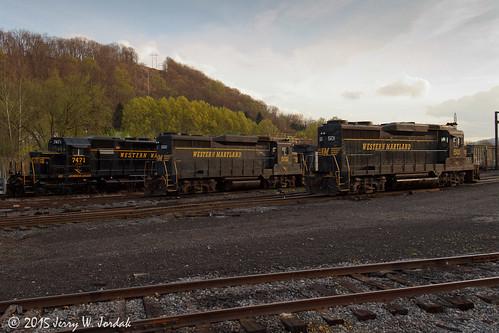 usa yard train wm wv wmsr 501 gck 502 sd40 gp30 7471 ridgeley
