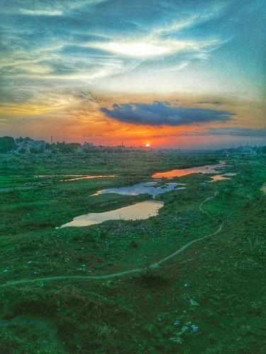 sunset india sunrise river madurai tamil hdr tamilnadu nexus southindia vaigai mobilephotography tamilnadutourism nexusphotography