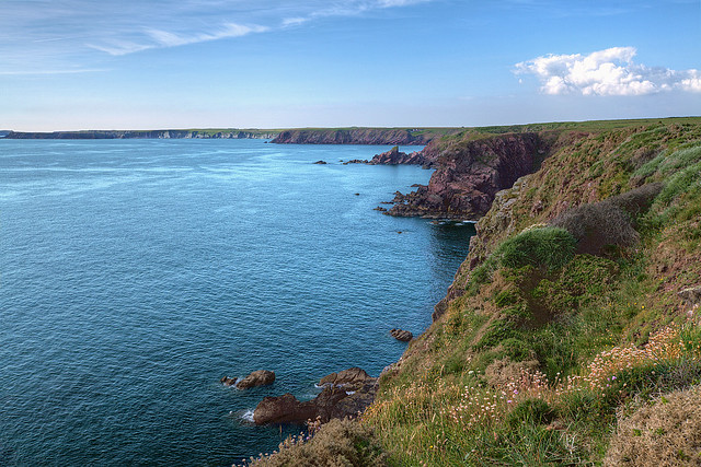 Blue Celtic Sea and Sky