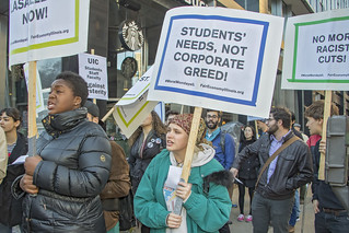 Chicago students protest high college costs. Eight arrested. | by BobboSphere