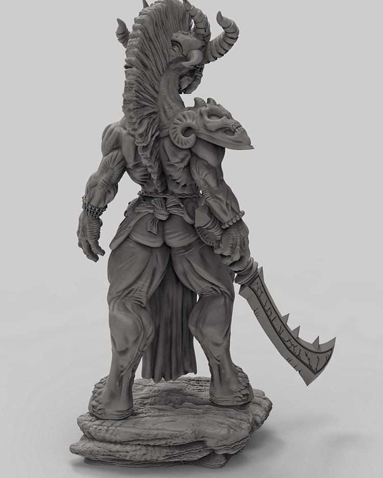 Demon sculpt up on Gumroad as a printable files for 3dprin