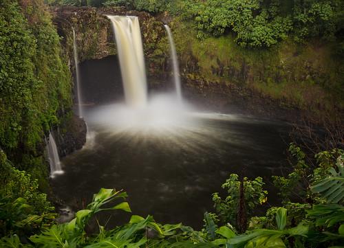 cascade waterfall river hawaii usa le nd littlestopper jamesgibson green