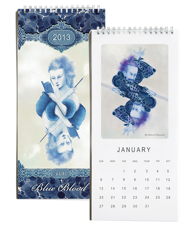 uusi blue blood wall calendar