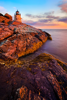 Sunset at Castle Hill Lighthouse | by chris lazzery