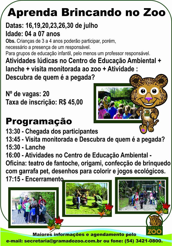 Aprenda Brincando No Zoo Atividade De Ferias Gramadozoo A Flickr