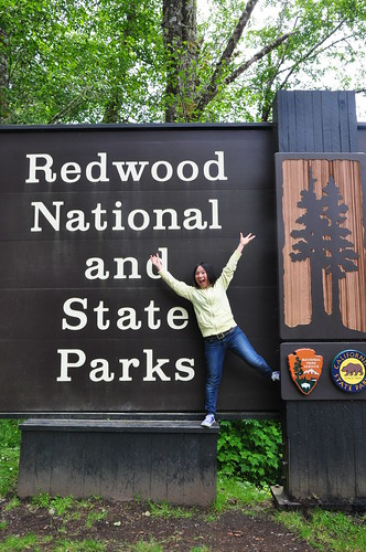 Kasumi and Redwood National and State Park Sign | by brycewgarner