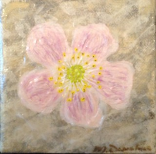 My acrylic on canvas of Alberta Wild Rose for submission to The Alberta Flood Rose Project.