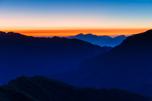 mountain sunrise landscape dawn 合歡山 hehuan 日出 色溫