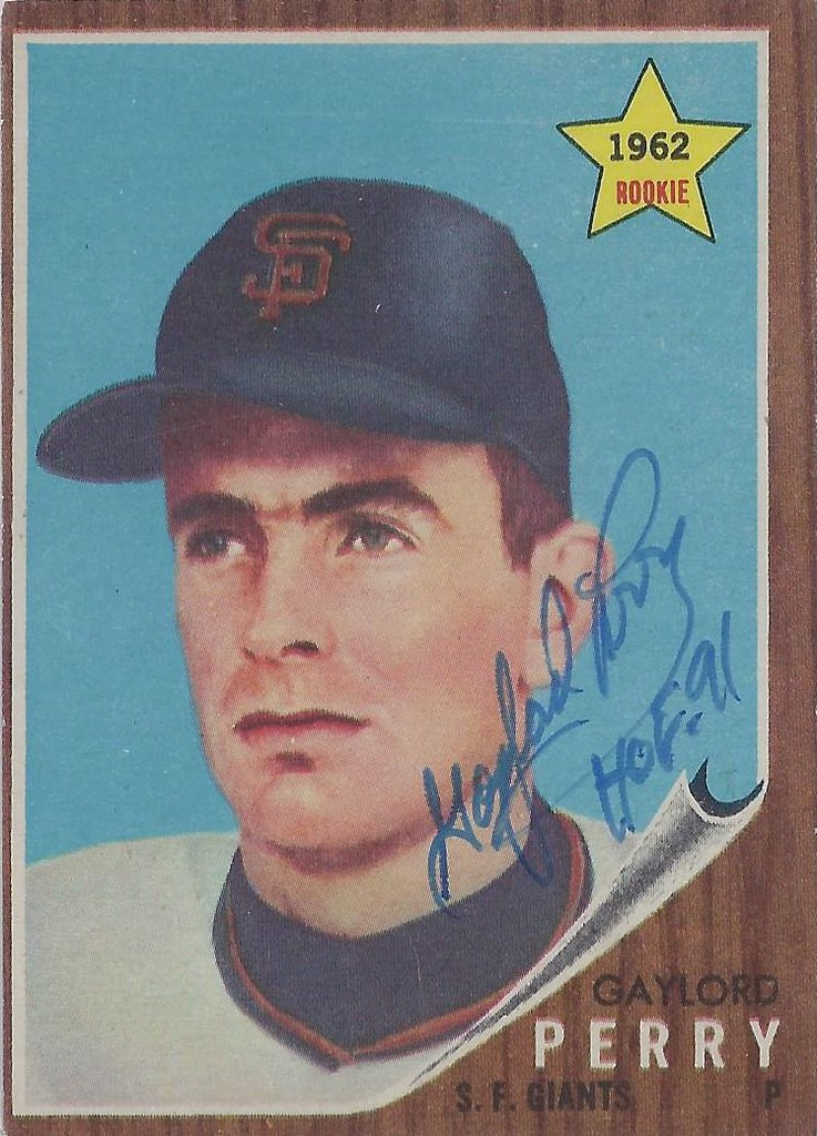 1962 Topps Gaylord Perry 199 Pitcher Baseball Hall O