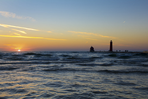 Lake Michigan Sunset | by Kristina Austin Scarcelli