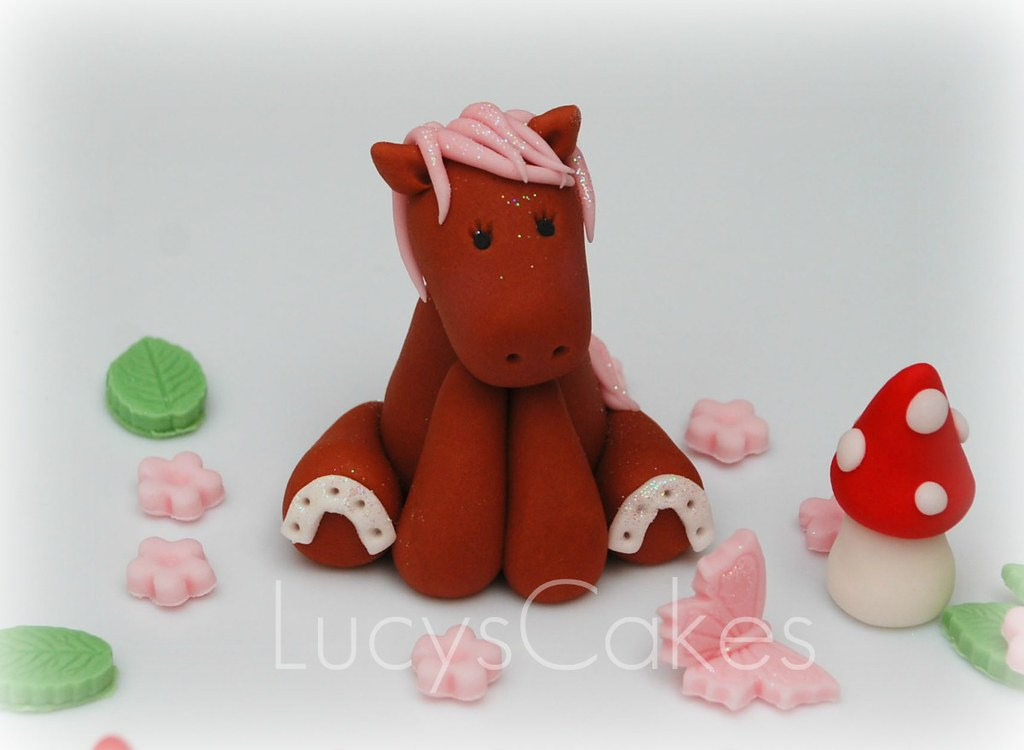Excellent Pony Horse Cake Topper Birthday Christening Visit Me And L Flickr Personalised Birthday Cards Xaembasilily Jamesorg