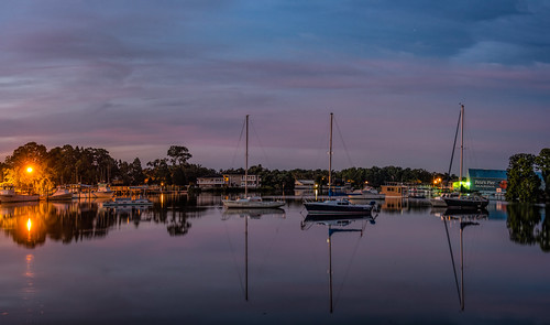 architectureandbuildings boat cloud crystalriver dawn florida landscape panorama reflection river sunrise usa water watercraft weather building dock pier unitedstates cloudy night edrosackcom