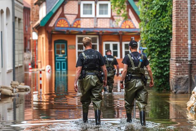 2013-06-11 Altstadt in Lauenburg überflutet
