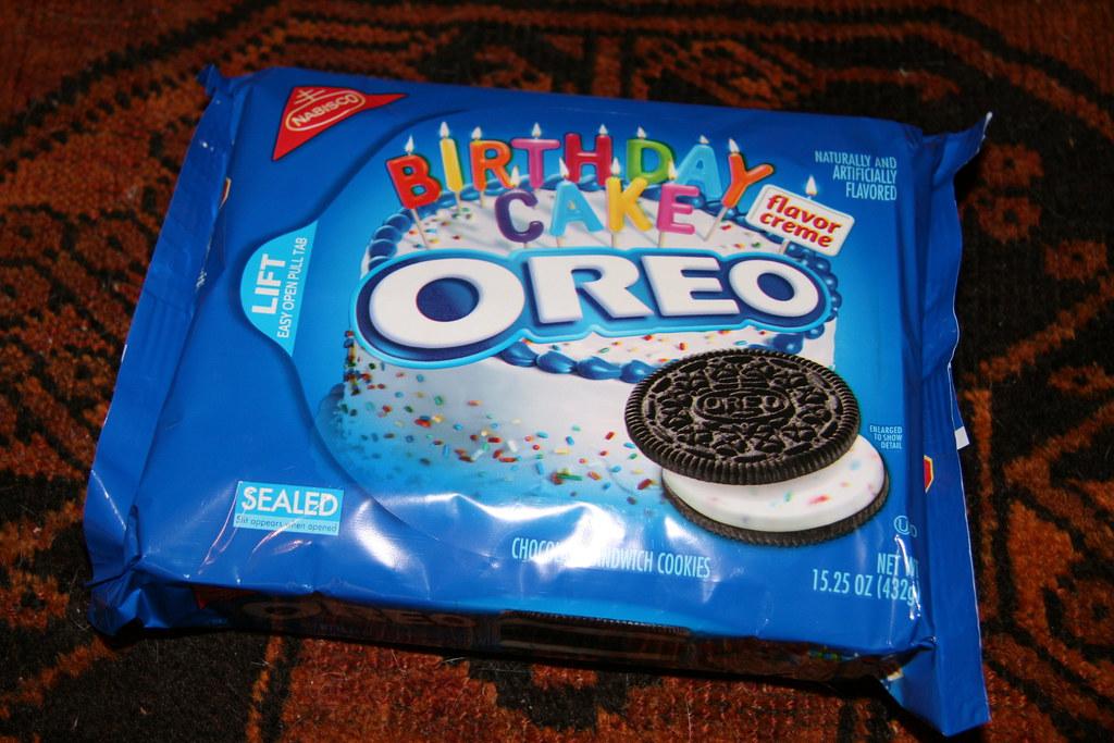 Strange Nabisco Oreo Birthday Cake Flavor Creme American Cookies Personalised Birthday Cards Vishlily Jamesorg