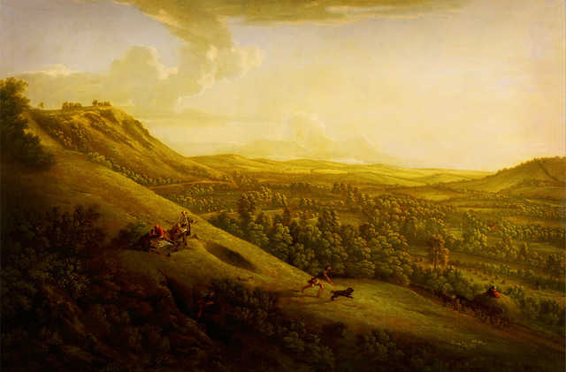 George Lambert - Box Hill, Surrey, with Dorking in the distance -