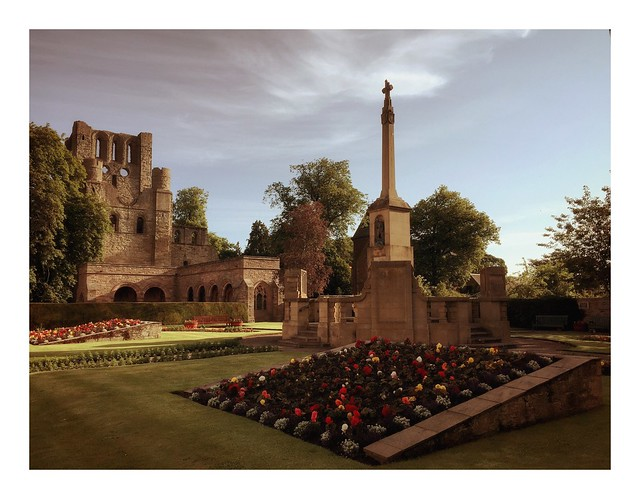The Abbey from the Memorial Garden, Kelso, Scottish Borders