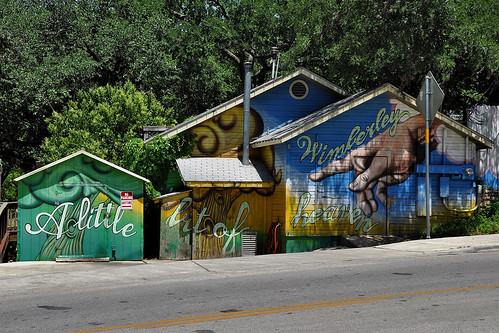 wimberley wimberleytx texas usa street streetviews outdoor mural paintedhouse alittlebitofheaven colour colours artwork art painting smallbusiness dnysmphotography dnysmsmugmugcom