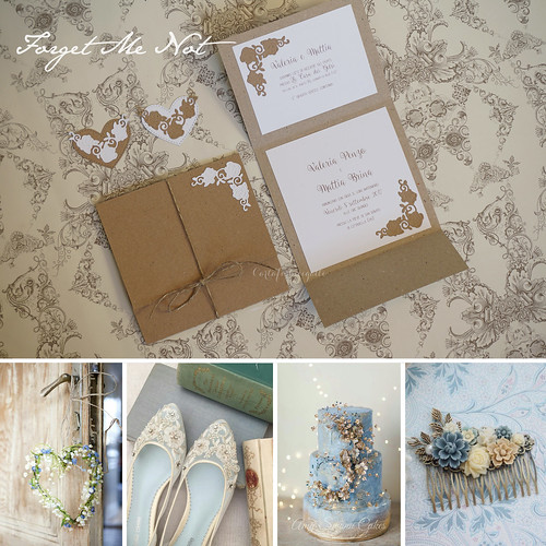 Forget Me Not Wedding Invitations