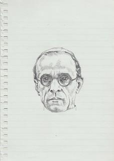 Zavier Ellis 'Mad Pope Drawing # 2', 2014 Pencil on paper 21x14.8cm