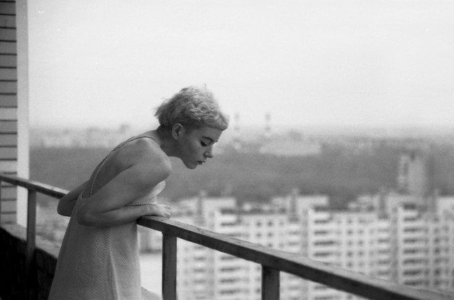 Yasmina on the balcony