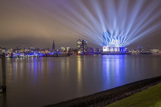 Grand opening of the Elbphilharmonie Hamburg Germany in January 2017