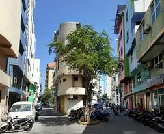 Street scene in Malé, capital of the Maldives