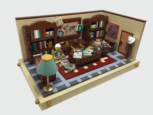 Professor Dick von Brick's office