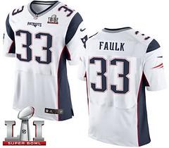 Nike Patriots #33 Kevin Faulk White Super Bowl LI 51 Men's Stitched NFL New Elite Jersey