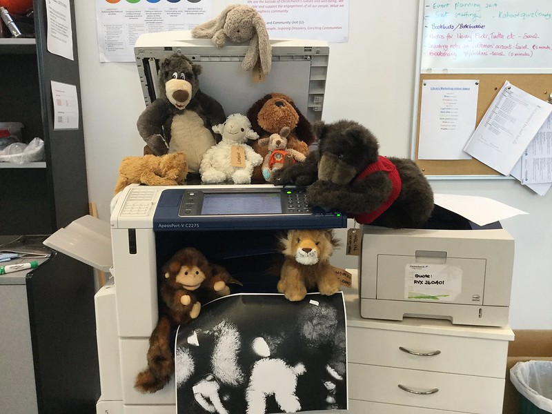 Toys in photocopier