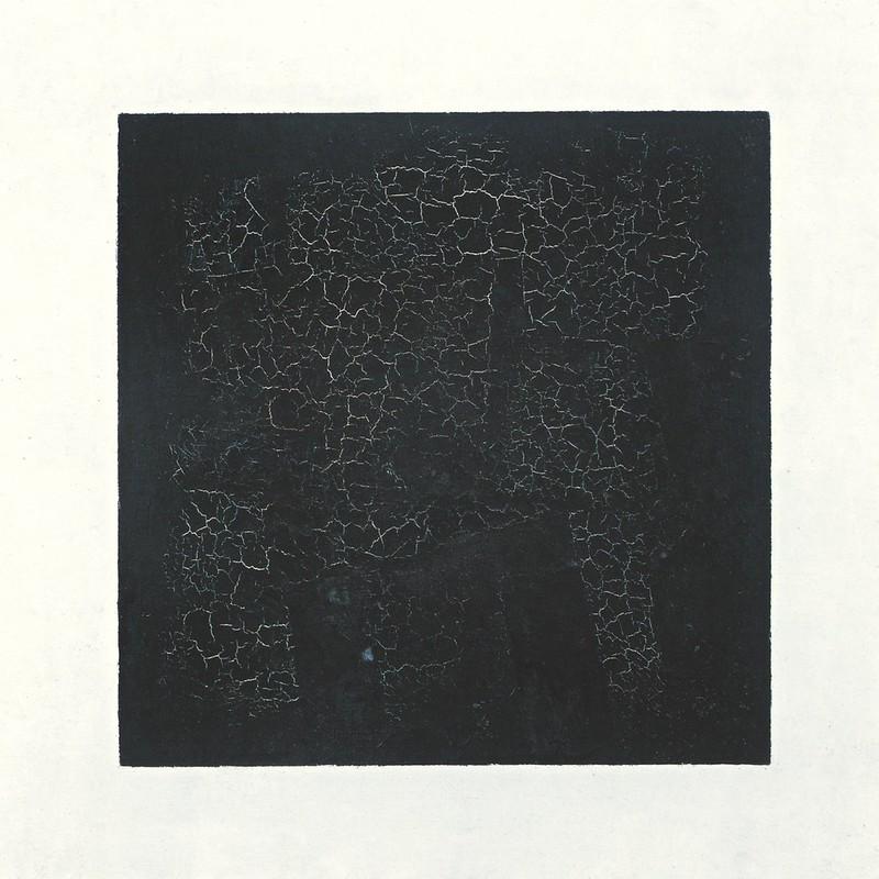 Black Suprematic Square