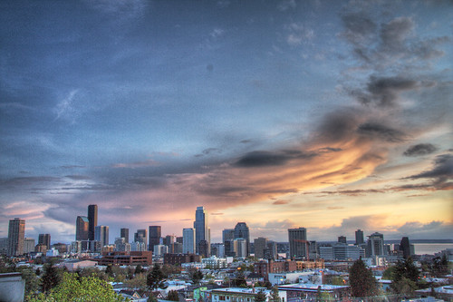 Seattle Downtown Skyline Sunset HDR | by lopolis