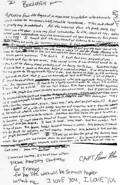 Kurt Cobain..Last Words