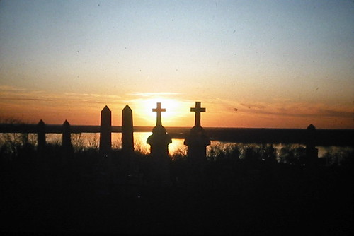 sunset cemetery silhouette maryland