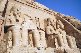 Statues of Rameses II, Abu Simbel, Egypt